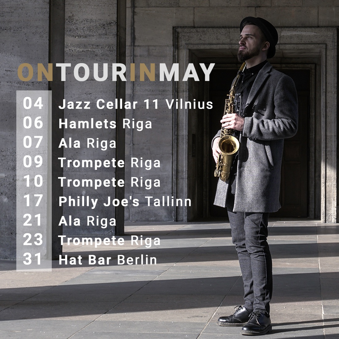 Toms Rudzinskis on tour in May 2019